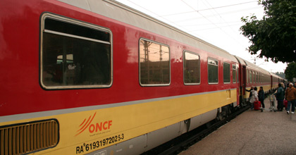 A Tangier-Casablanca train at Sidi Kacem