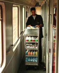 Moroccan trains usually have a refreshment trolley...