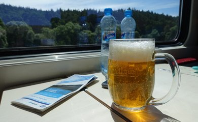 A beer on the train