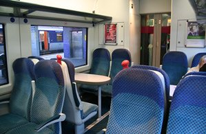 Inside one of Northern Ireland Railways' new C3K trains