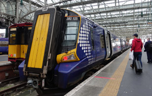 Scotrail train from Ayr to Glasgow