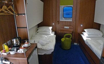 Comfort Class cabin on the Stena Line ferry from Liverpool to Belfast