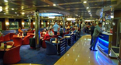 Lounge and bar on the ferry Stena Mersey