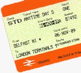 �29 train & ferry ticket from London to Dublin