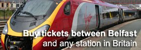 Buy a train & ferry ticket from London to Belfast online...