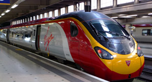 A Virgin Trains' 125mph 'pendolino' train