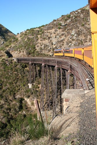 Trestle bridge on the Taeri Gorge Railway