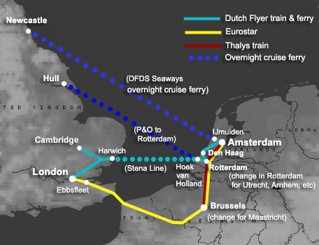 london to amsterdam by train ferry or eurostar from 49 99