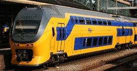 Dutch double decker InterCity train