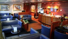 The Commodore Deluxe lounge on DFDS Seaways Newcastle-Amsterdam ferry.
