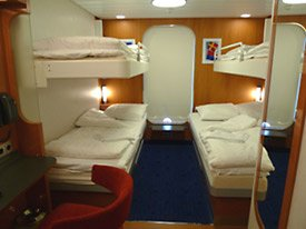 4-berth standard outside cabin on the Stena Hollandica...