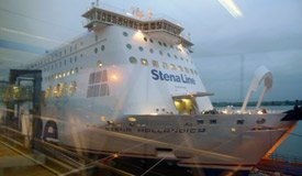 Boarding the Stena Line ferry from Harwich to Hoek van Holland for Amsterdam