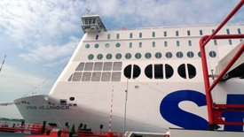 The Stena Hollandica arrived at Hook of Holland