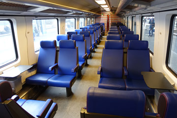 2nd class seats on an Amsterdam to Brussels InterCity train