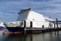 P&O Ferries 'Pride of Rotterdam' has just arrived from Hull