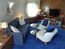 Captain's suite deluxe cabin on the Stena Line ferry 'Stena Hollandica'