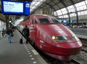 Thalys train at Amsterdam Centraal