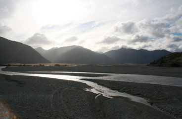 The view from New Zealand South island's TranzAlpine train
