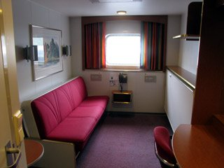 Cabin on a Hurtigruten ferry