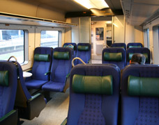 Seats on an Oresund link train