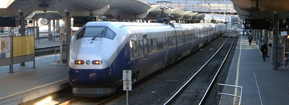 The Norwegian train from Gothenburg to Oslo, arrived at Oslo Central