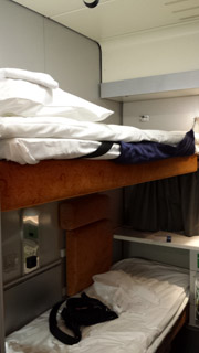 2-bed sleeper on the Oslo to Bergen sleeper train