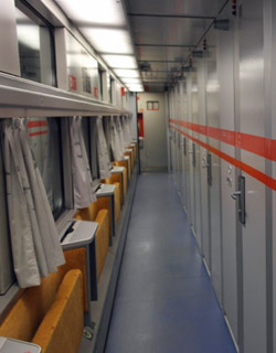 Sleeping-car corridor