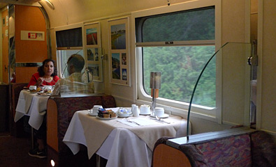 Restaurant car on VIA Rail's Ocean