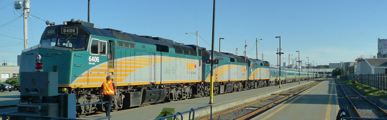 VIA Rail's Ocean, arrived at Halifax Nova Scotia