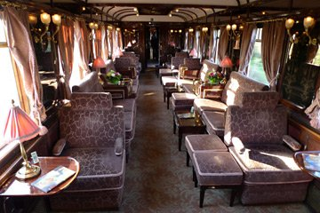 The Venice Simplon Orient Express bar-lounge car
