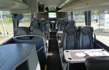 Executive coach takes Orient Express passengers from Folkestone to Calais