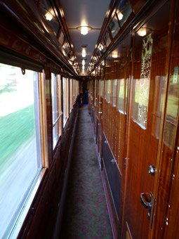 Corridor of a VSOE LX-type sleeping-car