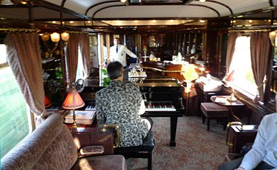 ...the bar car comes complete with a piano.