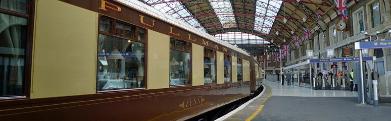 The Venice Simplon Orient Express Pullman train at London Victoria
