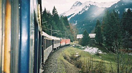 Venice Simplon Orient Express snakes through the Arlberg Pass