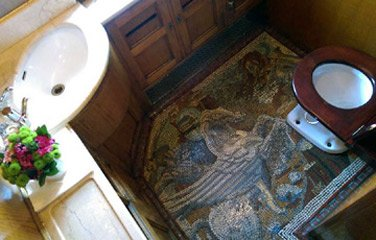 Toilet floor mosaic in Pullman car Perseus