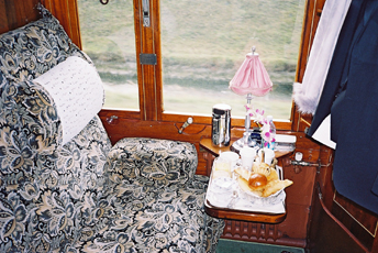 Breakfast served in your compartment...