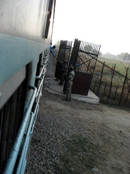 Train crossing the border between India & Pakistan