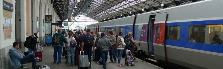 TGV from Paris arrived at Hendaye