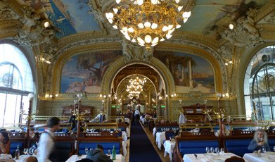 The Train Bleu restaurant, Paris Gare de Lyon