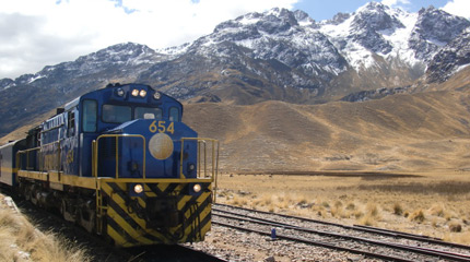 Andean Explorer train from Cusco to Puno
