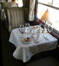 Lunch on the train from Cusco to Puno