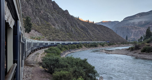 The Andean Explorer train