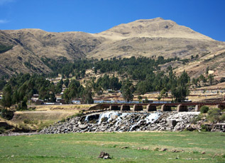 Scenery along the Cusco to Puno train line