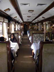 Hirham Bingham dining car