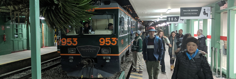 Inca Rail 360 train arrived at Cusco San Pedro
