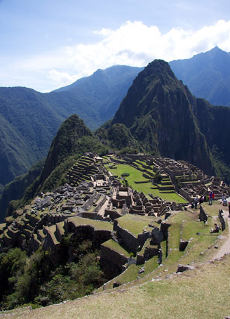 The ruined Inca citadel at Machu Picchu