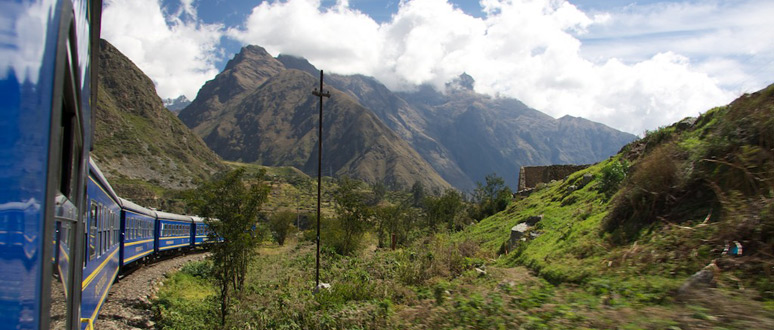 On the train to Machu Picchu, beyond Ollantaytambo