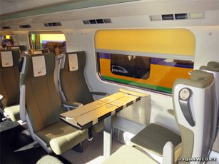 2nd class seats on a PKP InterCity EIP train