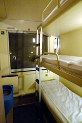 3-berth sleeper on the Jan Kiepura